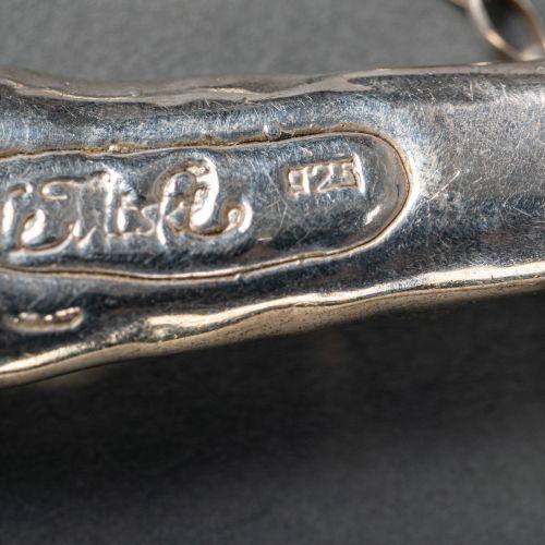 Collier en argent et vermeil, argent 925/1000, signé, 30g. 20Cm de long