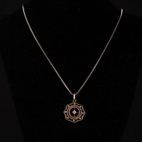 Pendentif en or 585 , avec diamants 0,1 carat vers 1900,