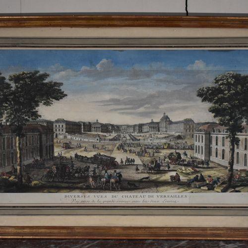 Jacques RIGAUD (c.1671/91 1754)  Diverses vues du Château de Versailles  Gravure…