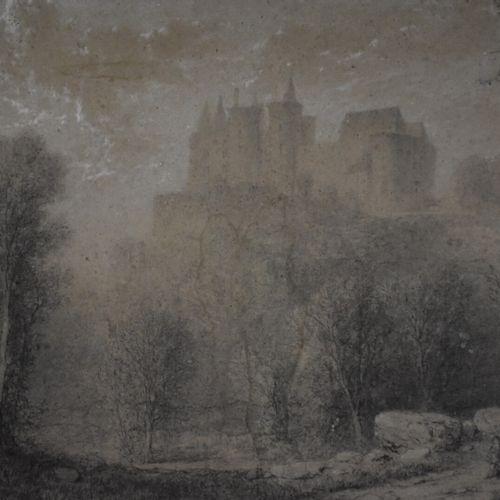 Paul MALLARD (né en 1809)  Ruines du Château de Rochefort, canton de Laignes (Cô…