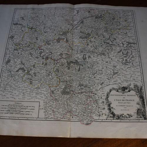 Gilles ROBERT DE VAUGONDY (1688 1766)  Gouvernement Général de l'Isle de France …