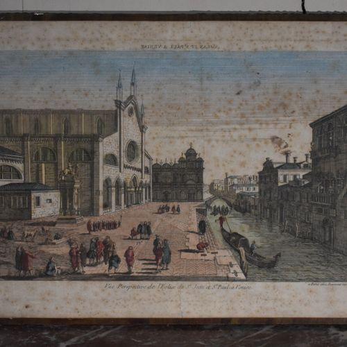 D'après Louis Gabriel I MOREAU (1740 1806)  Vue du Château de Montmorency Luxemb…