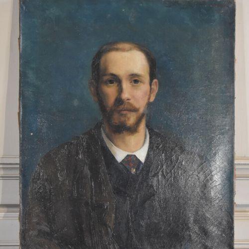Ecole française de la fin du XIXe siècle  Portrait d'homme  Huile sur toile  65 …