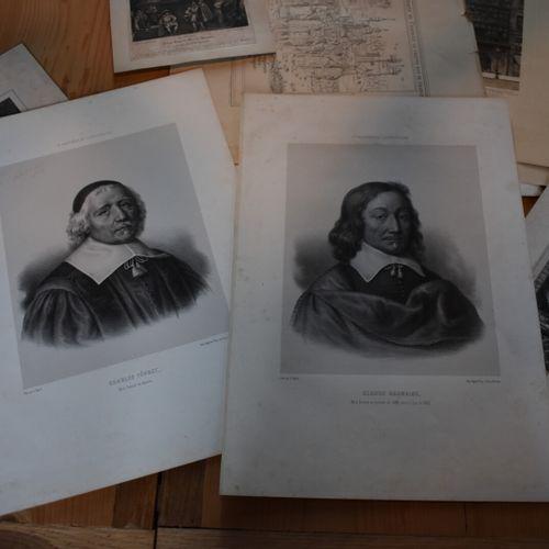Lot de gravures et lithographies, XIXe siècle  Dont lithographies de Charles Fév…