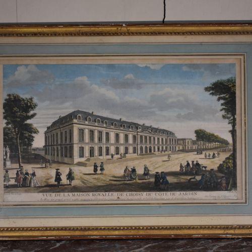 Jacques RIGAUD (c.1671/91 1754)  Vue de la Maison royale de Choisy du côté du ja…