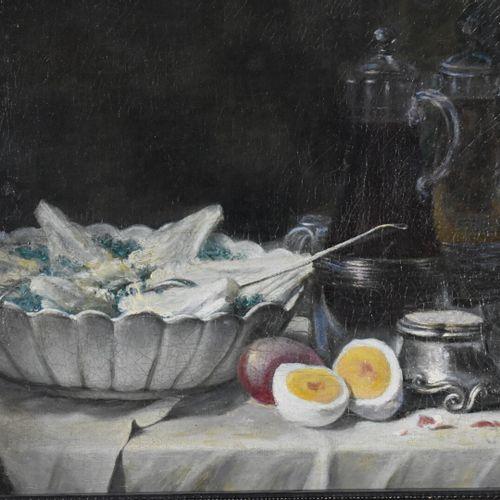 Ecole française du XIXe siècle  Nature morte aux oeufs  Huile sur toile  46 x 55…