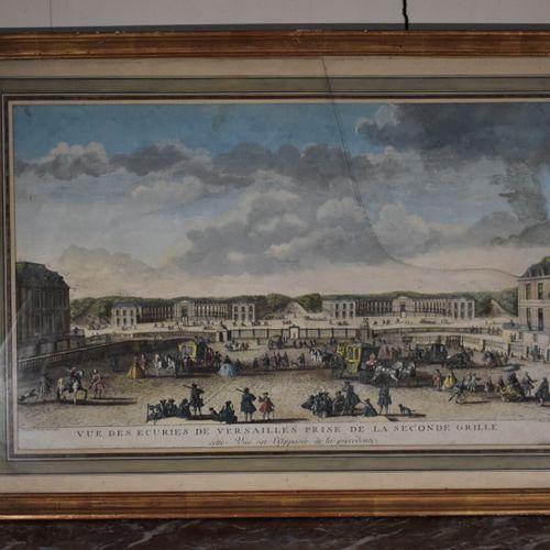 Jacques RIGAUD (c.1671/91 1754)  Vue des Ecuries de Versailles prise de la secon…