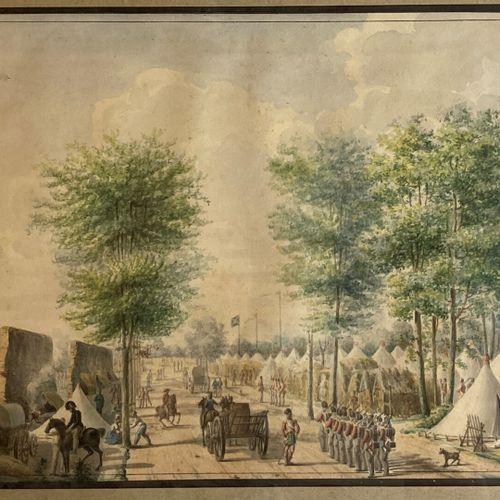 Ecole ANGLAISE du XIXème siècle  Les camps anglais, écossais et irlandais sur le…