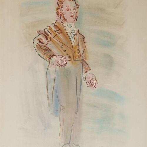 Raoul DUFY (1877 1953)  André Marie Ampère, d'après la Fée Electricité  Lithogra…