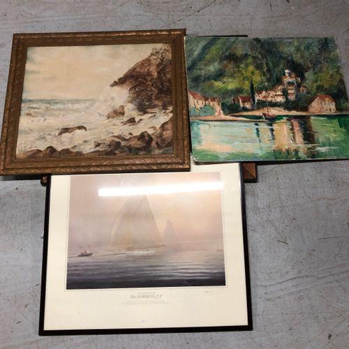 Ensemble de tableaux nature mortes, huiles sur toile, bouquets, paysages, bords …