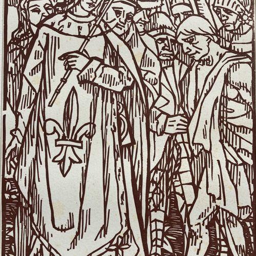 Emile Henri BERNARD (1868 1941), d'après  Saint Louis  Estampe Epreuve d'artiste…