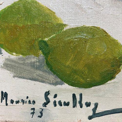 Maurice SERULLAZ (1914 1997)  Nature morte au citron et mimosas  Huile sur toile…