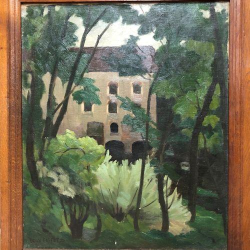 Léon PARENT (1869 1943)  Paysage au Moulin  Huile sur toile marouflée sur pannea…