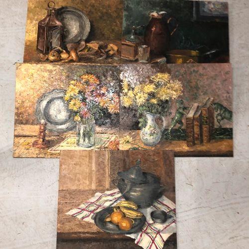 Nature mortes  Huiles sur isorel provenant de l'atelier du peintre HARDY    On y…