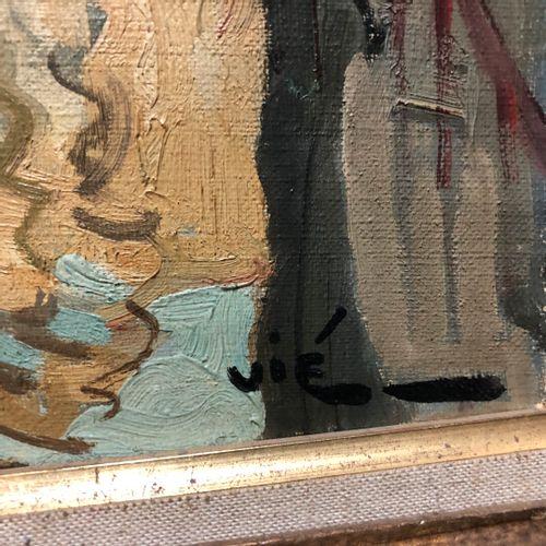 Gabriel VIE (1888 1973)  Le lavoir dans la ville  Huile sur toile signée en bas …