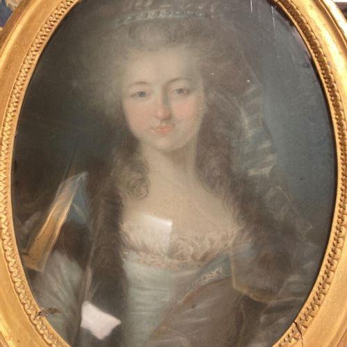 Ecole française de la fin du XVIIIe siècle  Portrait de la comtesse de Ménessair…