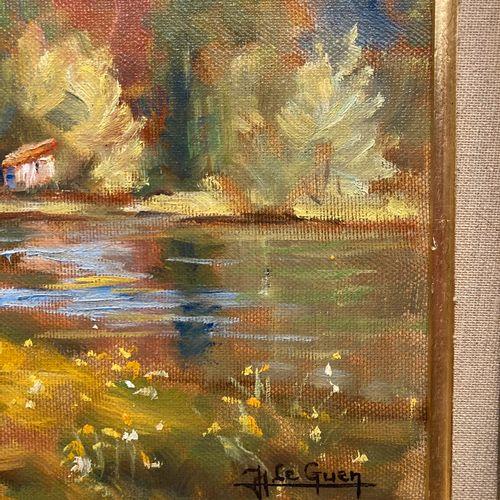 Jean LE GUEN (1926)  Paysage d'automne  Huile sur toile signée en bas à droite  …