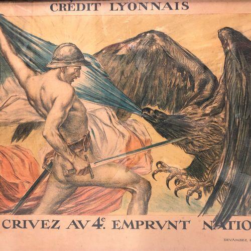 Emprunt National  Souscription au quatrième emprunt national par le Crédit Lyonn…
