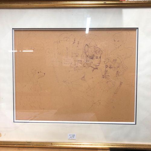 GRAU SALA (d'après)  Le modèle  Tirage sur papier  28,5 x 37,5 cm