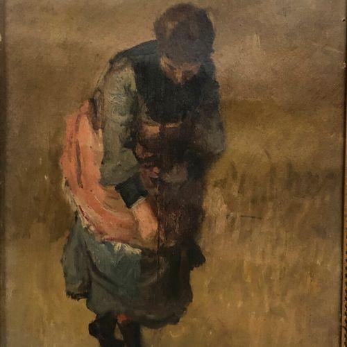 Ensemble de pièces encadrées  Bouquet de dalhias, scène de campagne, paysages, p…