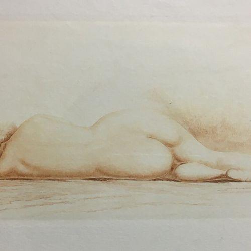 Jean Auguste VYBOUD (1872 1944), d'après  Nu allongé de dos  Eau forte signée en…