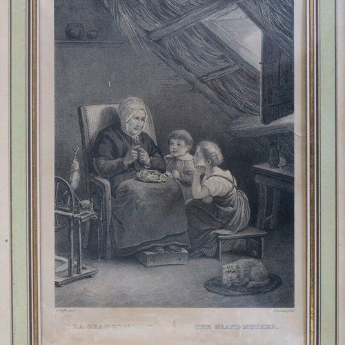 Divers  Ensemble de 5 planches :   Homme lisant à la bougie ; Moine en prière. E…