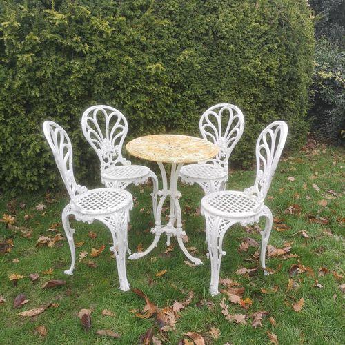 Sealed Bid Auction Garden Furniture: A Victorian cast iron table 52cm diameter, …