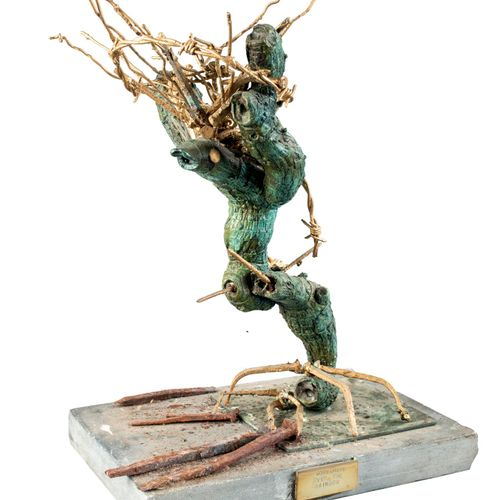 Modern and Garden Sculpture: Gerald Moore Somewhere over the Rainbow Bronze, bar…