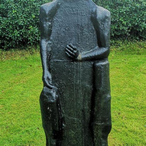 Modern and Garden Sculpture: Gerald Moore Egyptian cat figure Painted resin 167c…