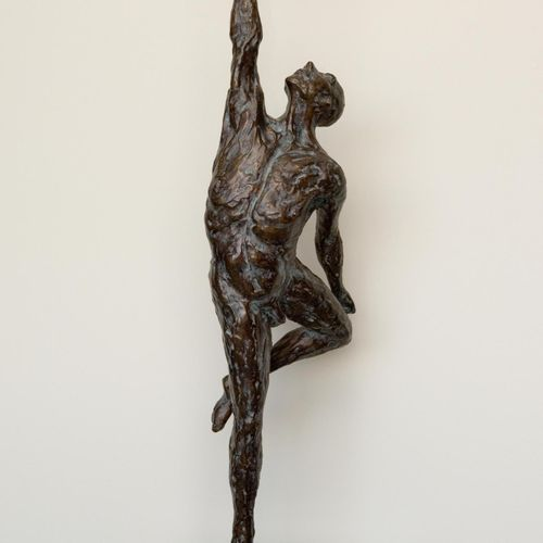Sealed Bid Auction Modern Sculpture: Jacques Vanroose Force Bronze, edition of 1…