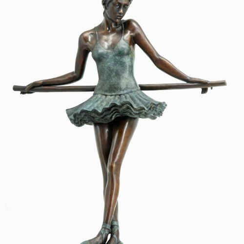 Sealed Bid Auction Modern Sculpture: Jonathan Wylder Ballerina Bronze with marbl…
