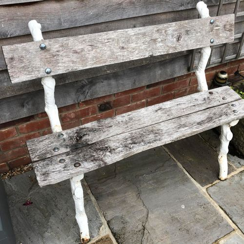 Sealed Bid Auction Garden Seats: A Victorian cast iron rustic seat late 19th cen…