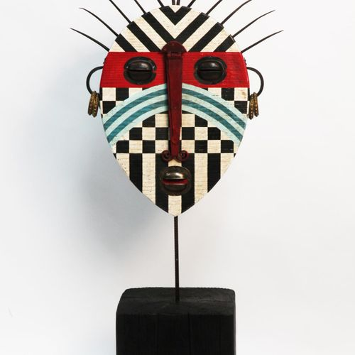 Sealed Bid Auction Modern/Tribal Sculpture: Martin Scorey Warrior Wood and metal…