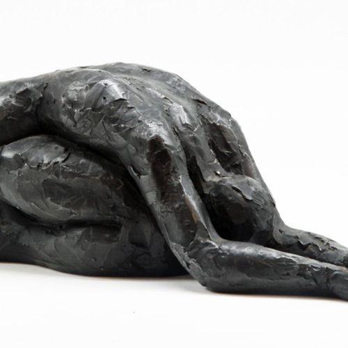 Sealed Bid Auction Modern and Garden Sculpture: Carole Peace Forward Fold Bronze…