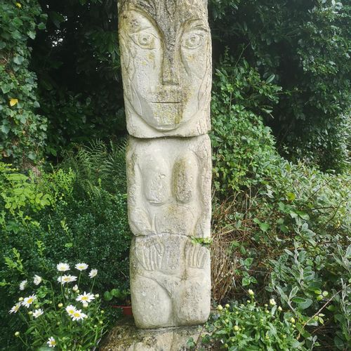 Modern and Garden Sculpture: Gerald Moore Standing stylised nude Limestone 150cm…
