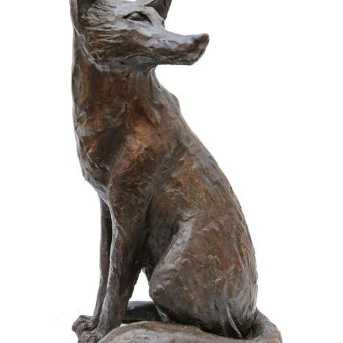Sealed Bid Auction Modern Sculpture: Paul Jenkins Sitting Fox Bronze 11 of 22 53…