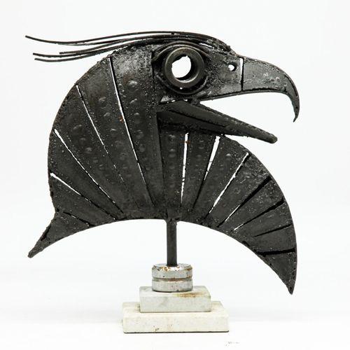Sealed Bid Auction Modern and Garden Sculpture: ▲Walenty Pytel Hawk Head Steel S…