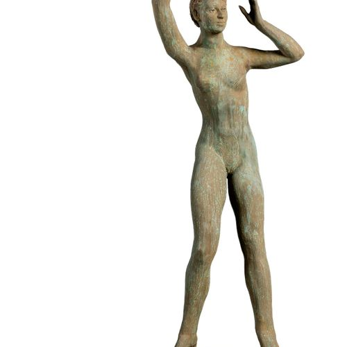 Modern and Garden Sculpture: Gerald Moore A resin dancing figure in the style of…