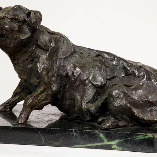 Sealed Bid Auction Modern Sculpture: B.C. Zheng Seated Pig Bronze on marble base…