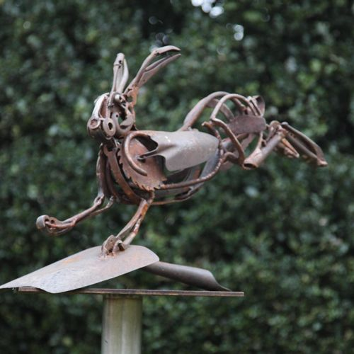 Sealed Bid Auction Modern and Garden Sculpture: Harriet Mead, born 1969 Hare on …