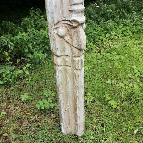 Modern and Garden Sculpture: Gerald Moore Abstract totem figure Fibreglass resin…