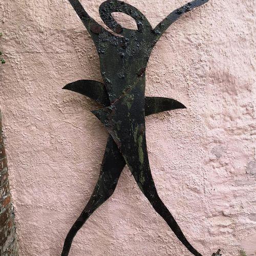 Modern and Garden Sculpture: Gerald Moore Dancing figure Painted sheet metal 190…