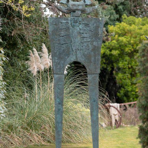 Modern and Garden Sculpture: Gerald Moore Man the Destroyer Bronze, inscribed Ge…