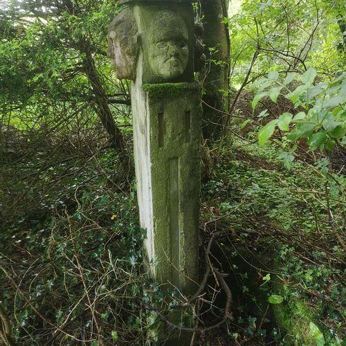 Modern and Garden Sculpture: Gerald Moore Janus head Ciment fondu 156cm high Par…