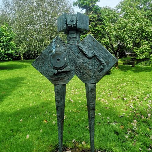 Modern and Garden Sculpture: Gerald Moore Abstract figure Bronze, inscribed with…