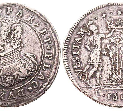 Italie PARMA Ranuccio I Farnese 1592 1622 Doppio ducatone, 1604, AG 63,48 g. Ave…