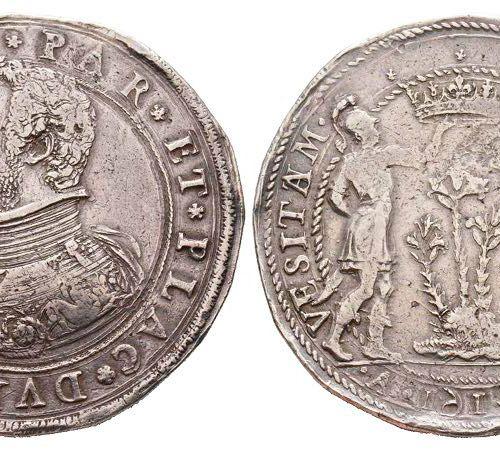 Italie PARMA Ranuccio I Farnese 1592 1622 Doppio ducatone, 1614, AG 63.09 g. Ref…