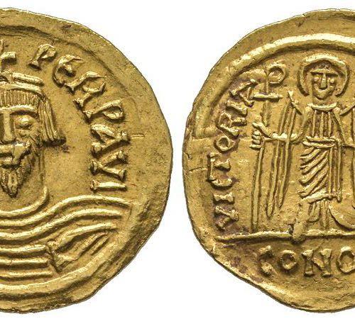 Byzantins Phocas 602 610 Solidus, atelier indéterminé, 607, AU 4.40 g. Ref : Hah…