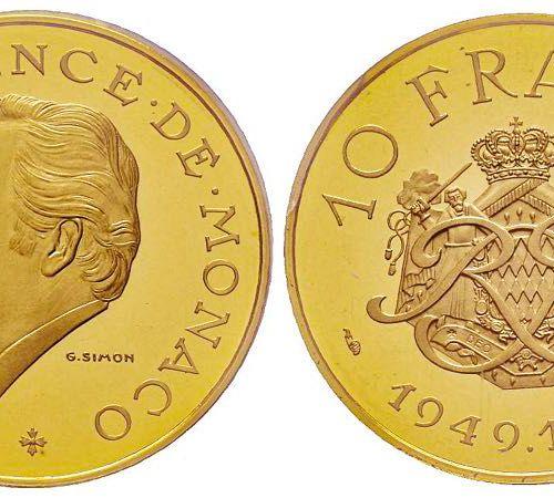Monaco Monaco, Rainier 1949 2005 Piéfort de 10 Francs, 1974, AU 38.8 g. Réf : G.…