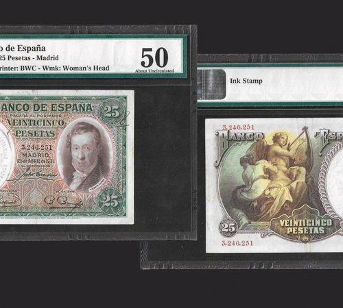 Billets Banco de Espana 50 Pesetas, 1931 Madrid Ref : Pick#81 Conservatoire : PM…